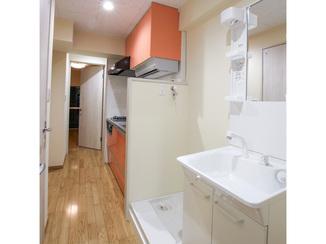 マンションリフォーム 浴室、トイレ、洗面台をそれぞれ分離させた、マンションのフルリノヴェーション