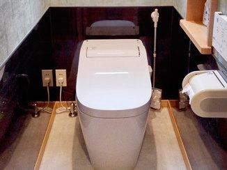 トイレリフォーム 清掃性高く、コーディネートにこだわった2部屋のトイレ