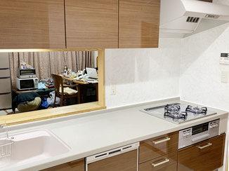 キッチンリフォーム 食洗機を新設、掃除がしやすく家事の時短に特化したキッチン