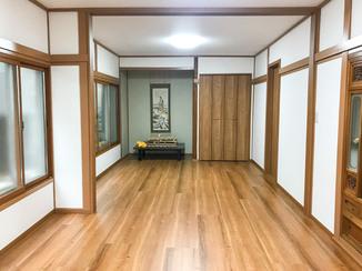 内装リフォーム お部屋を静かでひろびろとした空間に変えた、内窓&フローリング