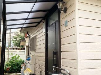 エクステリアリフォーム 雨よけと湿気対策&防蟻処理でさっぱりした玄関まわり