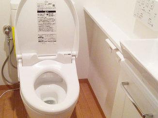 トイレリフォーム 掃除がしやすい工夫を凝らしたトイレ