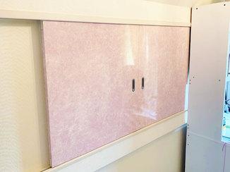 小工事 シンプルなお部屋を女の子らしい空間に変えた引き分け戸